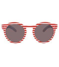 673dc352d5a Illesteva Leonard II Red Stripe Sunglasses - Memorial Day stripes anyone   Coolpin 123