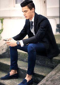 ネイビーパンツの着こなし・コーディネート一覧【メンズ】 | Italy Web