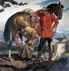 Another Arnold Friberg Rcmp Painting M ♂ Pinterest