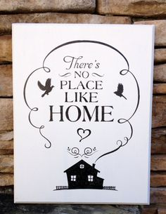Theres No Place Like Home Wood Sign Hand Painted Made in USA Wizard of Oz Quote #HEPTEAM