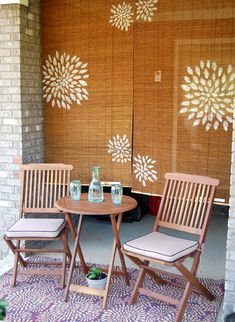 Cricut Inspiration - Make Stencils With Cricut Explore and Paint On Bamboo Shades and Bamboo Floor Mats.