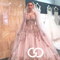 2016 Pin this if you want to see this dress and veil in MeaMarie Bridal Atelier!! YSA makino grace ormonde amazing bridal gown!