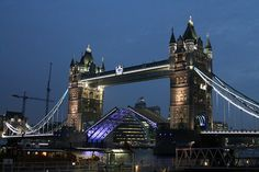 London's Tower Bridge at night  http://www.goldentours.com/london_by_night_open_top_bus_tour/