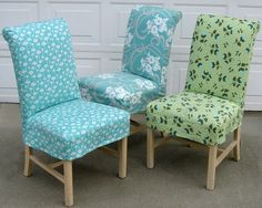 Slipcovers Choose a cool fabric and change your room right away with simple slipcovers. See fabric for this http://.stitchandpaintwhistler.com
