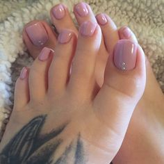 Fantastic 67 Ideas Romantic Pink Toe Nail Art for Valentines Day ~ Nail care is essential as nails protect the t… in 2020 Fall Toe Nails, Pink Toe Nails, Pretty Toe Nails, Cute Toe Nails, Toe Nail Color, Pink Toes, Feet Nails, Pedicure Nails, Pretty Toes