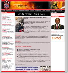 Community website design for The Southern African Emergency Institute, SAESI Training Courses, Design Agency, Peace Of Mind, Service Design, Southern, African, Community, Education, Website