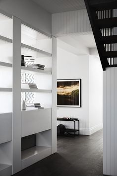 Studio Tate have completed a stunning renovation and restoration of a historic Tudor-style beach house in the Australian coastal town of . Open Shelving Units, Gable House, Interior Architecture, Interior Design, Design Interiors, Timber Panelling, Tudor Style Homes, Melbourne House, Coastal Living Rooms