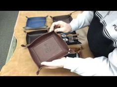 (2) Mitchell Leather Valet Tray: A Closer Look - YouTube