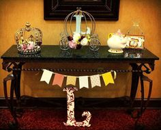 Beauty and the Beast Royal Ball welcome table