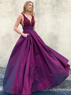Purple Evening Dress, Summer Dress, Formal Evening Dresses, Prom Dresses With Pockets, A Line Prom Dresses, Wedding Dresses, Bridesmaid Gowns, Graduation Dresses, Ball Dresses