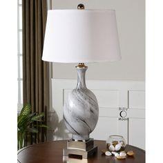 Uttermost Grigio Gray Glass Lamp 26488