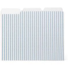 Denote hot projects with the File Folders, 6ct, Blue Stripes from Threshold. This pack of 6 file folders will make certain projects stand out to keep them from slipping through the cracks.