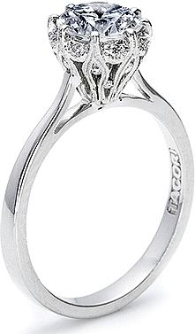 Tacori Pave Diamond Halo Engagement Ring 2504RD