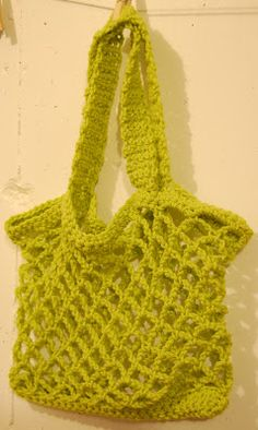 Easy Crochet Mesh Bag Pattern : 1000+ images about Crochet Market bags. on Pinterest ...