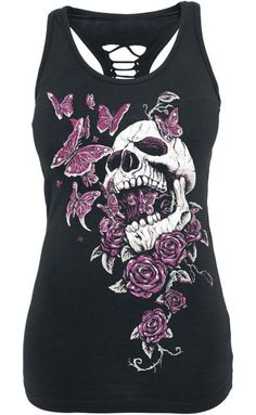 Butterfly Skull Top by Full Volume ~ EMP