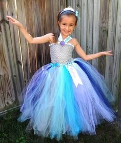 kids girls Under The Sea Tutu Dress with Embroidery Ribbon and name by 1583Designs birthday special occasion events dress up photo prop blue silver starfish seashell, $74.99