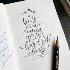 calligraphy - quotes - New Ideas - calligraphie - Watercolor Calligraphy Quotes, Calligraphy Quotes Doodles, Pencil Calligraphy, Calligraphy Handwriting, Hand Lettering Quotes, Calligraphy Alphabet, Brush Lettering, Modern Calligraphy Quotes, Penmanship