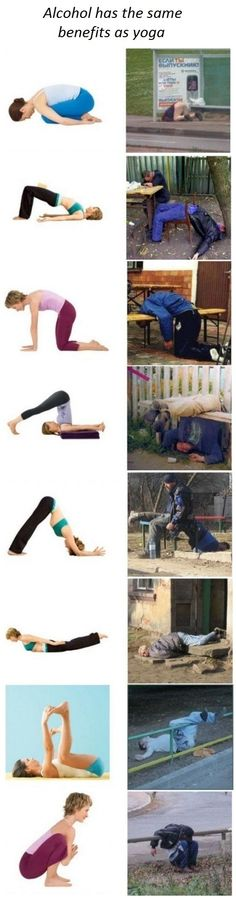 yoga vs alcohol...I don't do either but this was too funny!