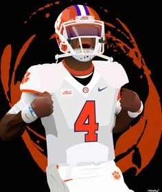 Deshaun Watson 4 Poster by BWinNCGraphicDesign on Etsy