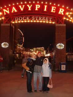 Taylor and her parents checked out the Navy Pier in #Chicago.