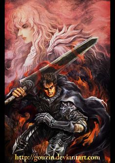 "Fanart of ""Berserk"", Gatsu ( Guts ) and Griffith. Edit:-----Wow!!! I just got my first Daily Deviation! It's a huge honor for me! I'm very glad a lot of visitor enjoyed this work. Thank you very mu..."
