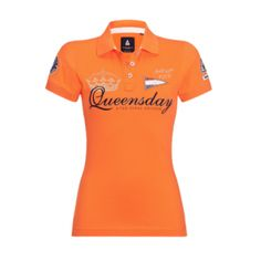 Oranje Koninginnedag polo shirt voor dames. Orange shirt for women, specially made by Gaastra for Queensday. Queens day 2013 the final edition April 30th 2013.