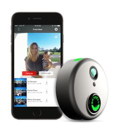 SkyBell is a Wi-Fi video doorbell with video camera, speaker, microphone and motion sensor. See, Hear and Speak with your visitor from iOS and Android devices.