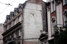 "Mural in 19 ""Rajićeva"" street by Čedomir Vasić, 1989"