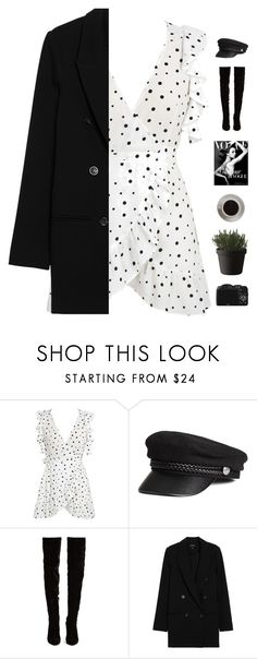 """Dots"" by genesis129 on Polyvore featuring WithChic, H&M, Christian Louboutin, Muuto, CO, Bunn, StreetStyle, chic, outfits and women"