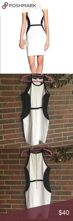 Banana Republic size 6 black & white dress This is just absolutely stunning! Made from a nice, thick heavy material, this dress is in very much excellent condition! Size 6 Banana Republic Dresses