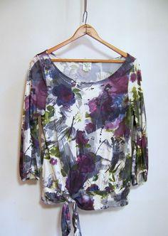 Anthropologie WESTON WEAR Pullover Top Shirt Sz M Multi-color #WestonWear #PulloverTee