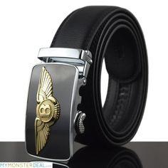 6d5d8ca5d4235 2016 New Men Belt For Jeans Luxury Belt Real Cowskin Leather Automatic Buckle  Belt Strap Mens Designer Belts military belt - Men s Jewelry