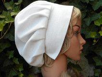 s3) Haube Leinen Magd Mittelalter Kopfbedeckung