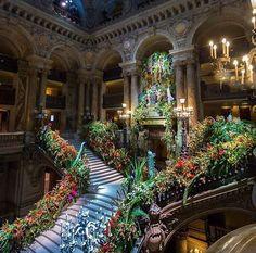 : Interiors : Via When your love of indoor plants reaches epic proportions! Actually this is the opening night floral arrangements at the Paris Opera.but same thing really Beautiful World, Beautiful Homes, Beautiful Places, Beautiful Architecture, Architecture Design, My New Room, Future House, Interior And Exterior, Places To Go