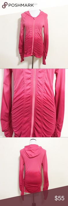 Athleta cadence pink ombré zip up hoodie jacket Details: Beautiful Pink ombre hoodie jacket from Athleta! Scrunchy for a perfect fit!  Size: M Material: in photos  Condition: EUC! No flaws!   ☑️ Bundle Discounts  ☑️Fast shipping  ☑️Posh Ambassador  ✨Shop with confidence! Athleta Jackets & Coats