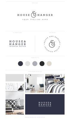 Branding Kit Design Logo Design Pack Premade by SeloraDesigns Corporate Design, Brand Identity Design, Brand Design, Design Design, Corporate Branding, Blog Design, Rustic Design, Luxury Branding, Design Ideas