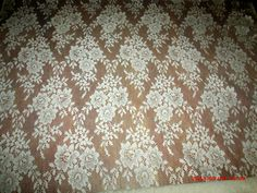 Vintage Cream Color Sheer Lace Fabric Material by Great1Treasure, $12.99