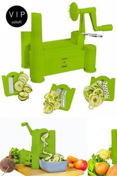 Spiral Slicer Easy Dining Meal Vegetable Food Spiralizer Kitchen Restaurant Safe #Brieftons