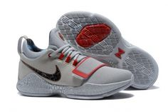 Nike PG 1 Gladiator PE Grey and Red For Sale e2354e551