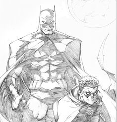 Drawing Comics Batman and Robin by Greg Capullo * - This is a close up shot of a print that Greg Capullo is creating exclusively for the upcoming Boston Comic . Greg Capullo, Comic Book Artists, Comic Artist, Comic Books Art, Character Drawing, Comic Character, Character Design, Batman Comic Art, Batman Robin