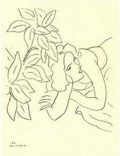"Henri Matisse ""Temas y variaciones"" - Portrait Line Drawing Henri Matisse, Matisse Drawing, Matisse Paintings, Matisse Tattoo, Matisse Prints, Matisse Art, Art And Illustration, Illustrations, Inspiration Art"