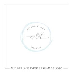 This listing is for a customizable pre-made Watercolor Circle with Initials Wedding Logo. Put your company's name on it today!