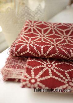 Bordeaux Cotton Fabric, Dark Red Fabric, Japanese Kimono Fabric, Tortoiseshell Cotton - Fabric by Yard 1/2 yard. $5.20, via Etsy.
