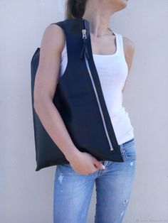 Large clutch! Leather handbag female package handmade – shop online on Livemaster with shipping