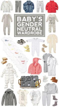 baby's gender neutral wardrobe.