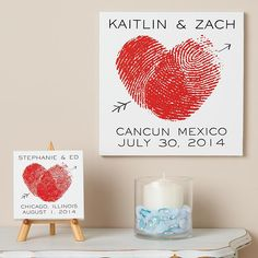 Personal Creations #Gifts  #Personalizedgifts I'm ordering this for our bedroom. I love it. Fingerprint Heart Canvas   Personal Creations - Great Personalized Gifts via- http://www.AmericasMall.com/personalcreations-gifts
