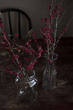 Winter berries. I celebrate the seasons in my home. I am very connected to the rhythms of nature