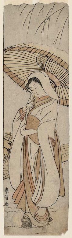 Suzuki Harunobu Title:The Heron Maiden (Sagi musume) Date:1769-70