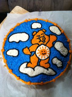 Care bear cookie cake