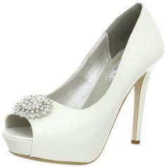 Doris Platform Pumps by Liz Rene Couture in white silk and satin Bridal Shoes, Wedding Shoes, Shoes Too Big, Satin Shoes, White Pumps, Shoe Closet, Platform Pumps, Dory, Violet